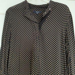 Madewell polka dot shirt dress.